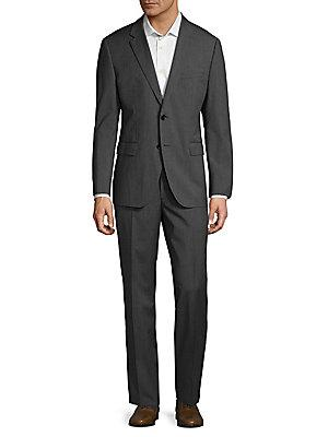 Boss Hugo Boss Classic Wool Suit In Dark Grey