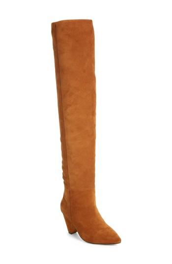 1f008265d540 Jeffrey Campbell Senita Cone Heel Boots In Taupe