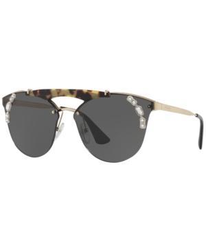 Prada Sunglasses, Pr 53Us In Brown/Grey