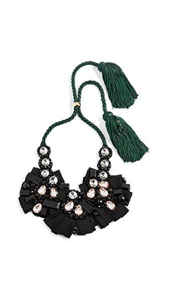 Lizzie Fortunato Moonlight Bib Necklace In Black