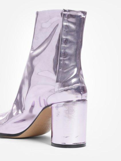 2599233af54 Maison Margiela Leather Tabi Boots In Pink