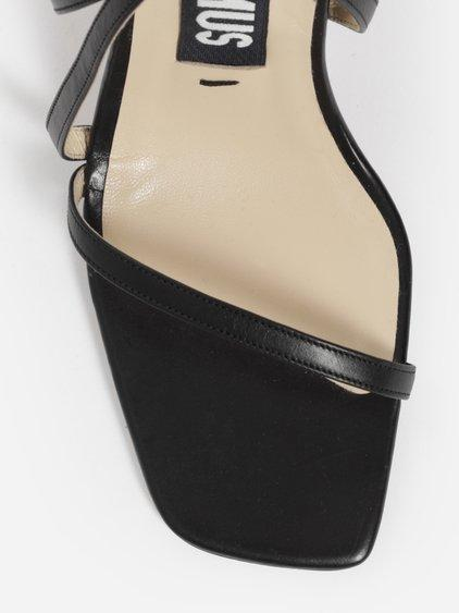 a3c341fa457 Jacquemus Bahia Leather Sandals In Black