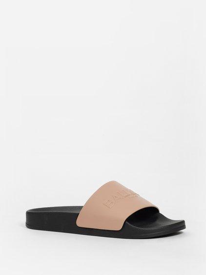 1c491c03 Balmain Calypso One-Band Pool Slide Sandals In Nude | ModeSens