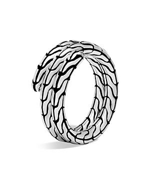 John Hardy Sterling Silver Classic Chain Double Coil Ring