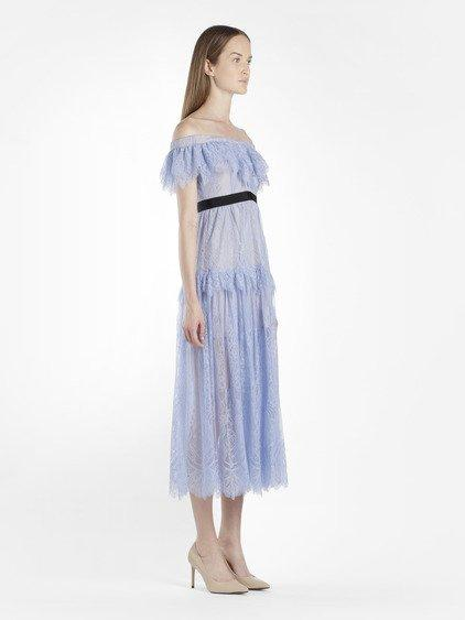 6e280b6fcf17 Self-Portrait Self Portrait Women s Light Blue Off The Shoulders Fine Lace  Dress
