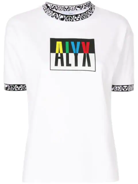 Alyx Women's White Colorblock Logo T-shirt