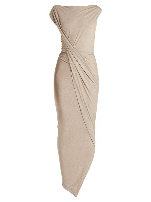 e6e1d22ff32 Vivienne Westwood Anglomania Vian Draped-Front Jersey Dress In Light-Beige
