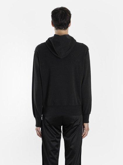 Misbhv Fantasy Printed Hooded Cotton Sweatshirt In Black
