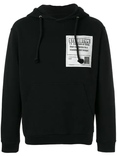 Maison Margiela Hooded Cotton Sweatshirt With Patch In Black