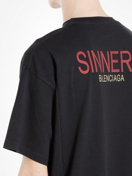 where can i buy factory outlet top quality Balenciaga Men's Black Sinners T-Shirt