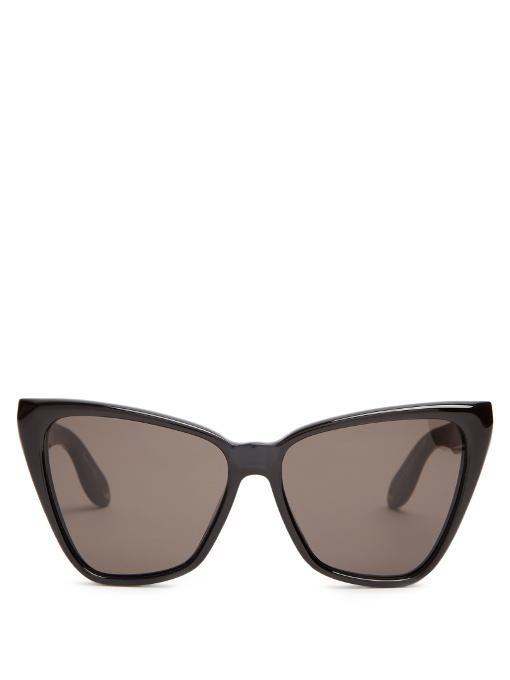 7539ea80713cf Givenchy Cat-Eye Acetate Sunglasses In Black Blue