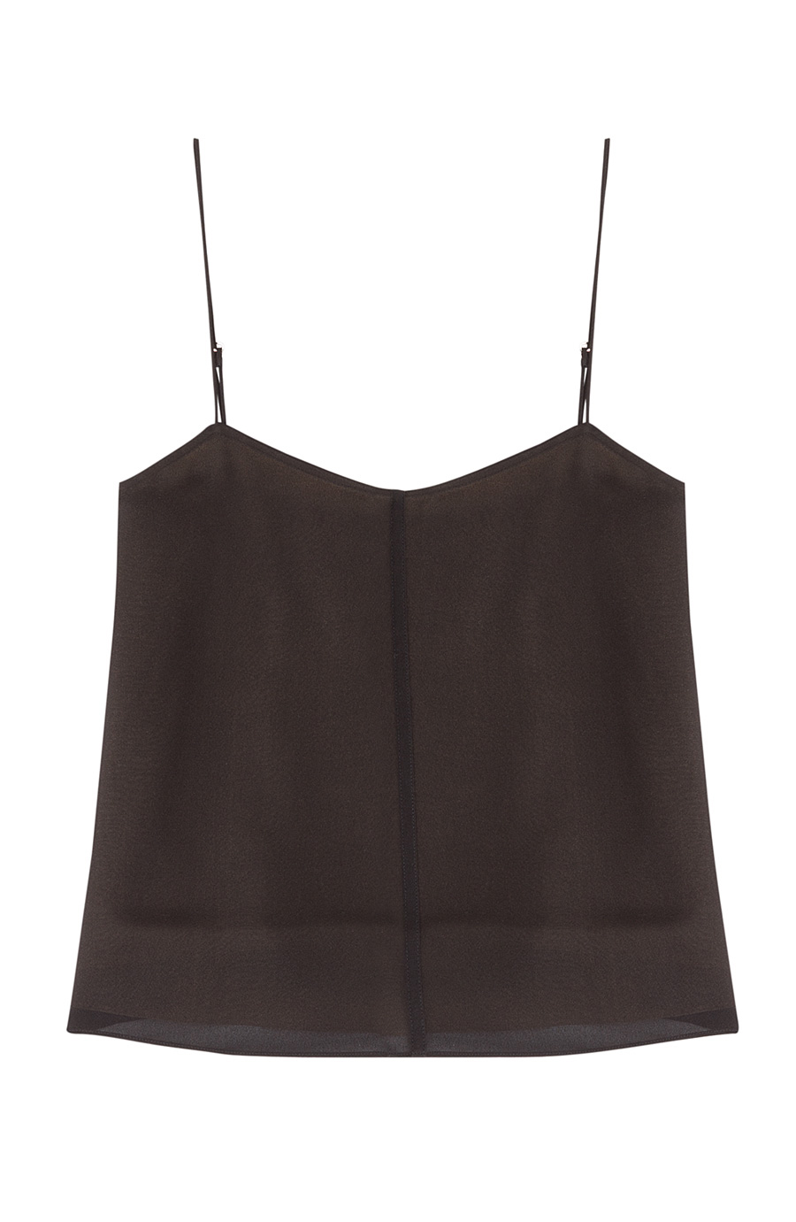 T By Alexander Wang Silk Camisole In Black