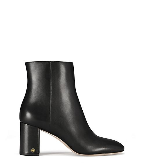 18f7e39e6 Tory Burch Women s Brooke Round Toe Leather Booties In Black Leather ...