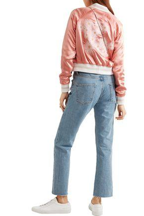 b58ee824f Woman Willa Reversible Embroidered Satin And Twill Bomber Jacket Antique  Rose