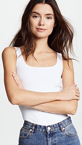 Theory Women's Len Tubular Stretch Jersey Tank Top In White