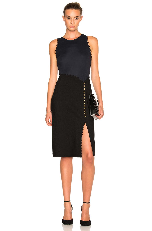 3.1 Phillip Lim Button-detail A-line Dress In Black