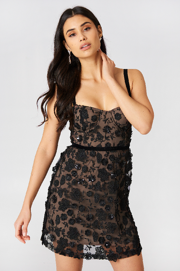 ed9ad381af6a For Love & Lemons Beatrice Strappy Mini Dress - Black | ModeSens