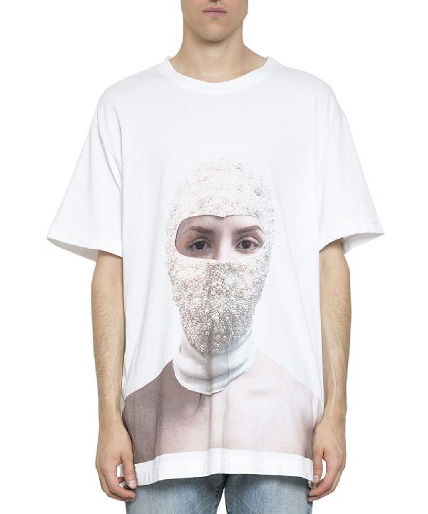 Ih Nom Uh Nit Printed Woman Cotton T-Shirt In Bianco