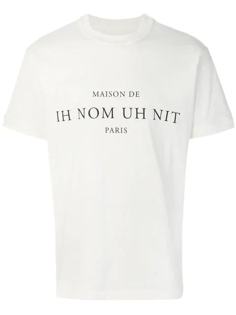 Ih Nom Uh Nit Short Sleeved T-Shirt In White