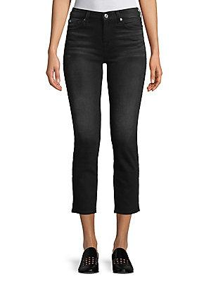 7 For All Mankind Karah Crop Jeans In Dark Charcoal