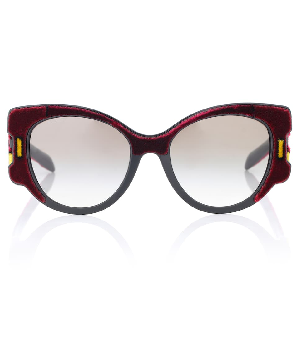 3c017cd24b6ce Prada Butterfly Gradient Sunglasses W  Velvet Detail