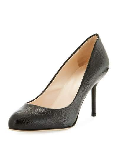 Sergio Rossi Patent Leather High Heel Pump In Black