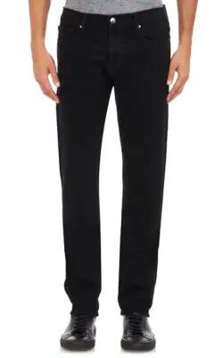 c64a3011b35 Frame L. FRAME. L'Homme Skinny-Fit Distressed Stretch-Denim Jeans in Black