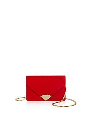 7c44ed4d1880 Michael Michael Kors Barbara Medium Envelope Clutch In Bright Red Gold