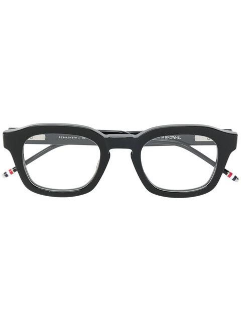84c2af4ea1c Thom Browne Eyewear Bold Framed Glasses - Black