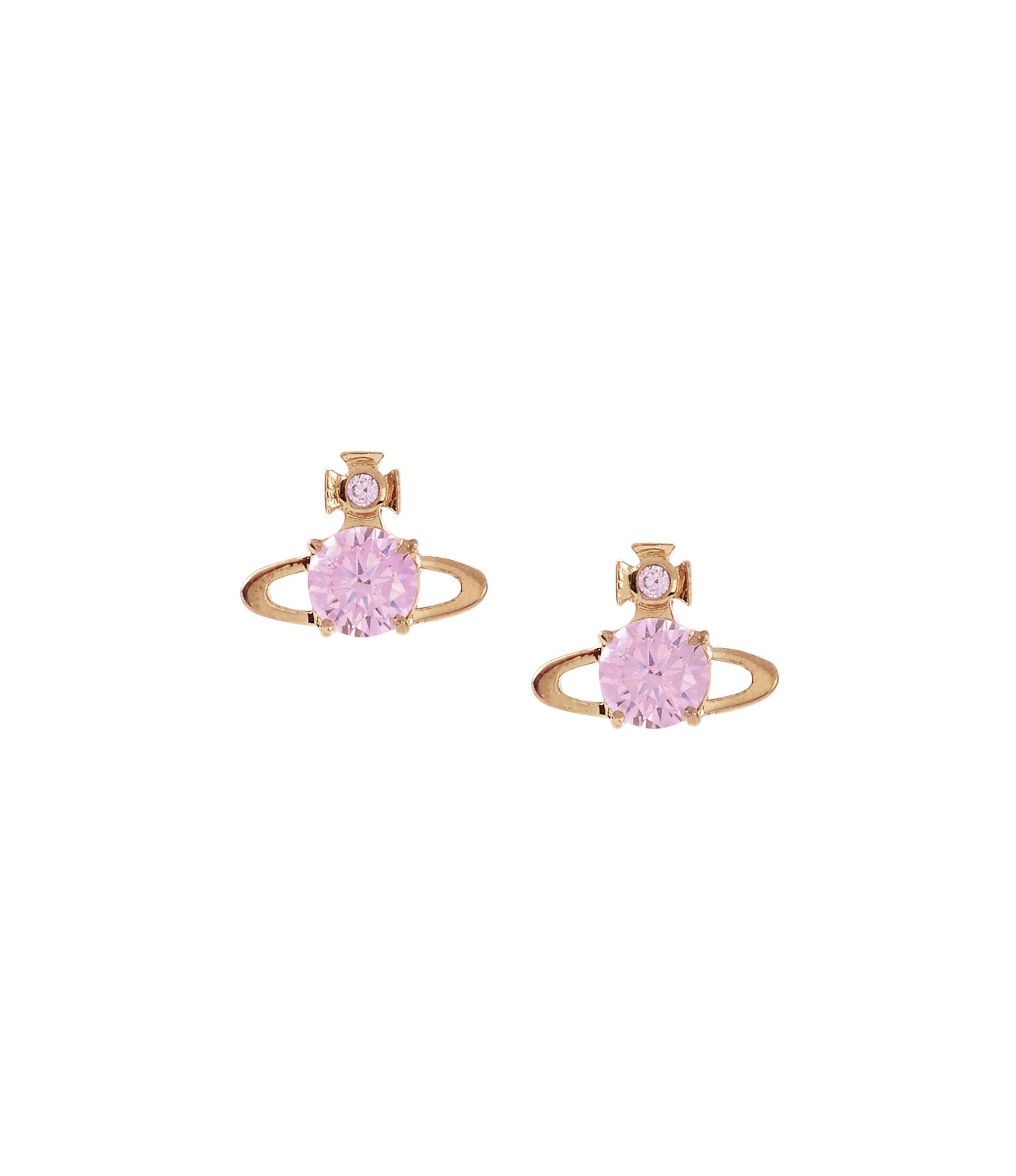 ec67ce5c97f82 Vivienne Westwood Reina Earrings Pink Gold in Pink Cubic Zirconia