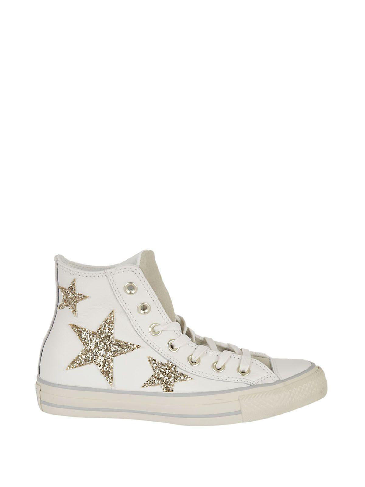 Chuck Taylor All Star High Curved Eyestay Hi Top Sneakers in Stelle