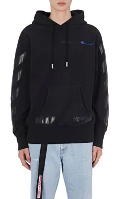 25b323503775 Off-White Champion Oversized Printed Cotton-Jersey Hoodie In Black ...