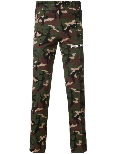 Palm Angels Classic Camouflage-print Track Pants In 9901 All Over White