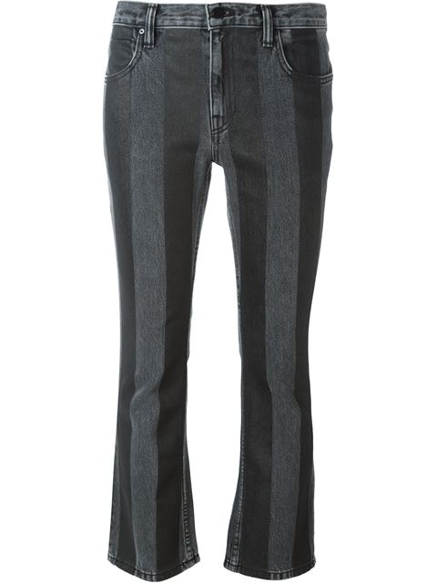 T By Alexander Wang Striped Flared Jeans
