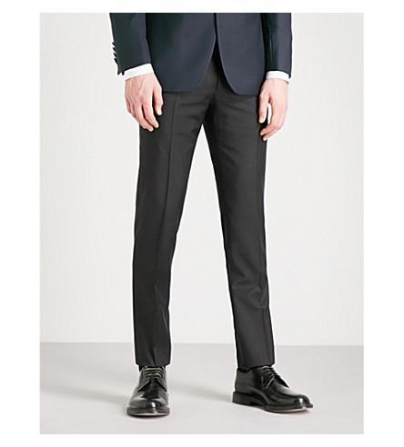 Corneliani Academy-Fit Straight Wool Pants In Black