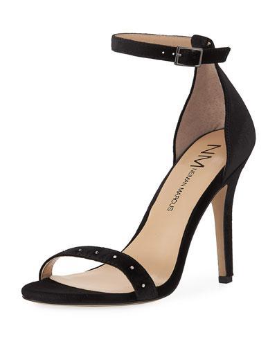 deab1d59e335 Neiman Marcus Baicho High-Heel Velvet Sandals
