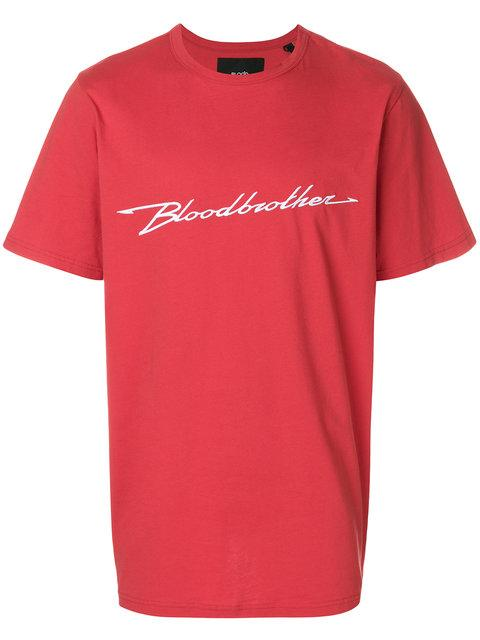 Blood Brother Performance Cotton T-Shirt In Red