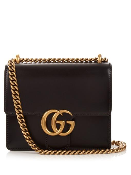 da8bd153025 Gucci Gg Marmont Mini Leather Shoulder Bag In Black