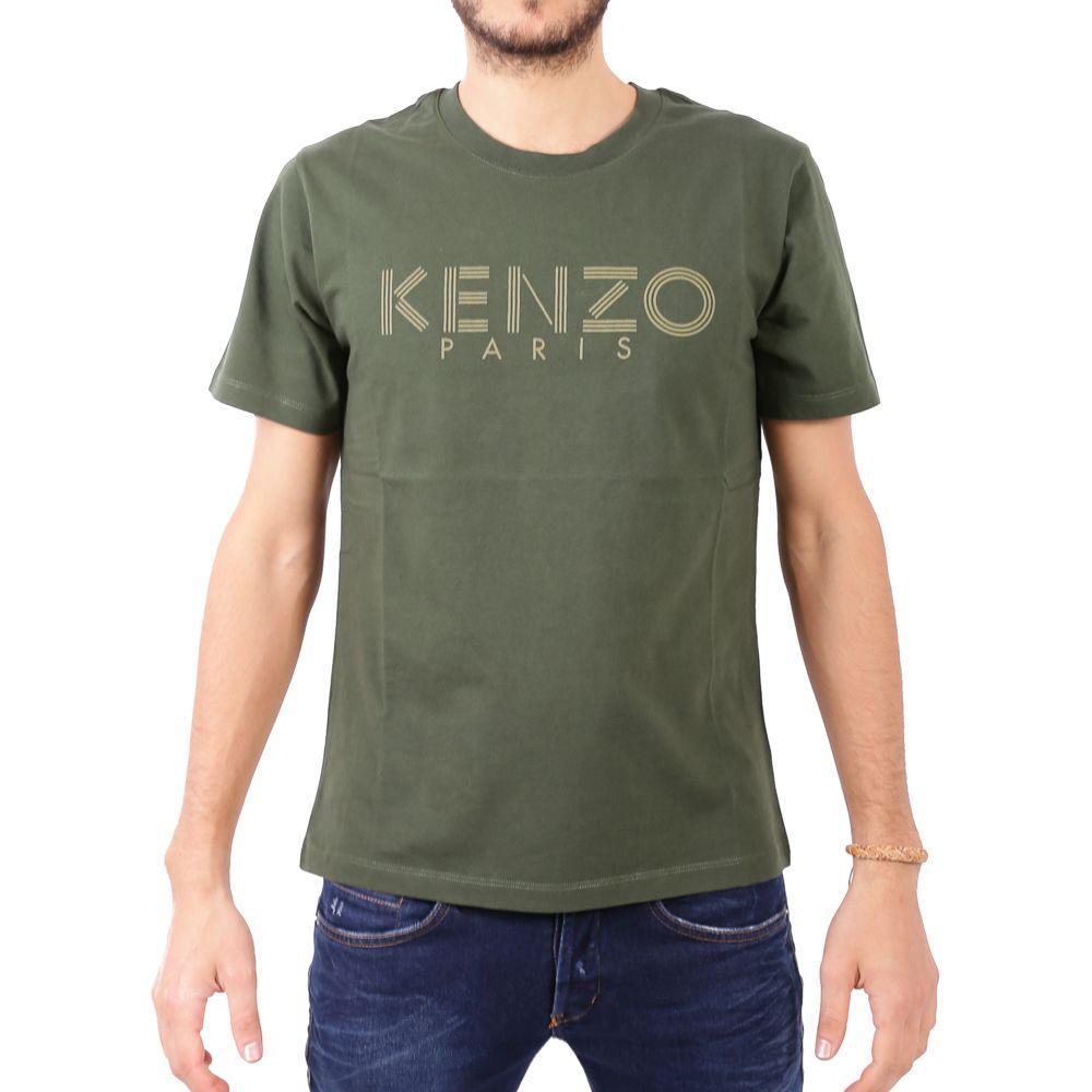 Kenzo Cotton T-Shirt In Dark Khaki