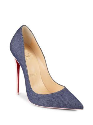 new arrival 2a17f 32c18 So Kate Denim & Patent Leather Pumps - Blue