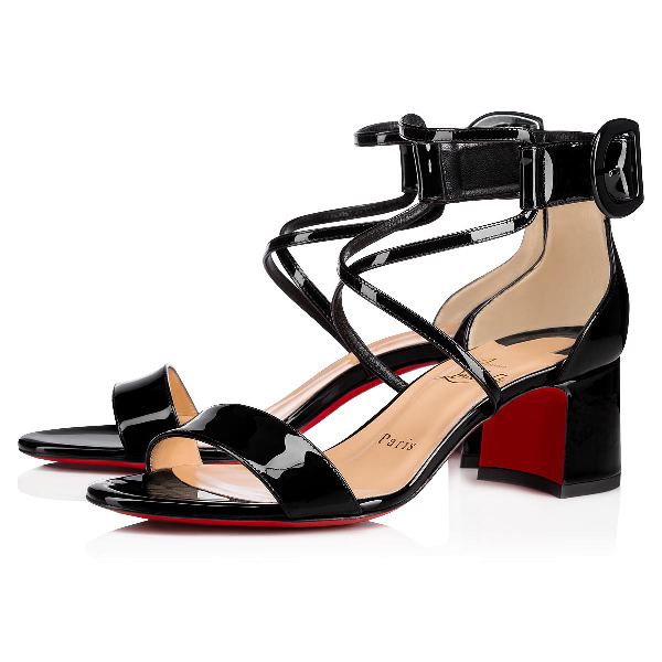 new product 879f0 53579 Choca 55 Patent Leather Sandals in Black