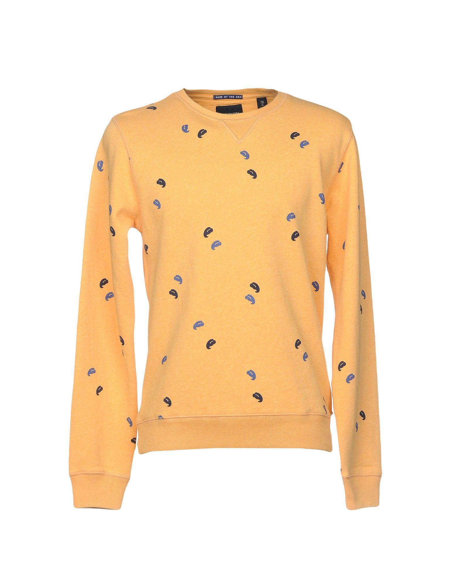 Scotch & Soda Sweatshirt In Yellow