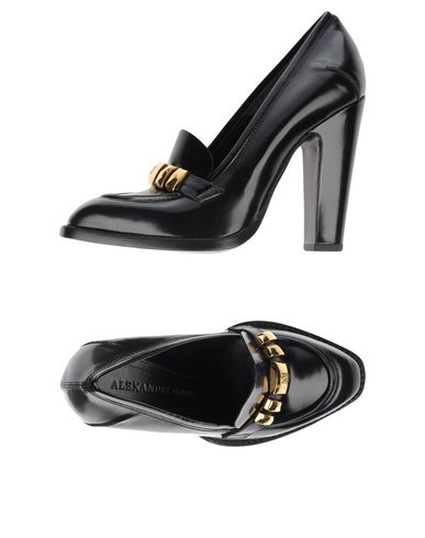Alexander Mcqueen 110Mm Brushed Leather Pumps In Black