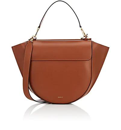 Wandler Hortensia Medium Leather Shoulder Bag - Brown