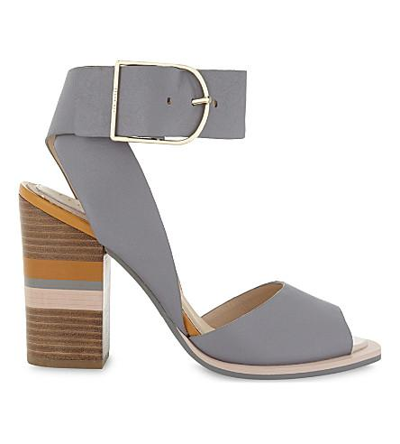 db68c8ec9 Ted Baker Thasie Colour-Block Heeled Sandals In Grey