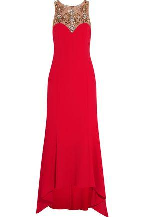 Marchesa Notte Woman Embellished Cady Gown Red