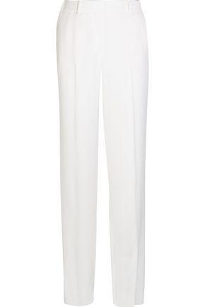 Givenchy Woman Wide-Leg Tuxedo Pants In White Satin-Crepe White
