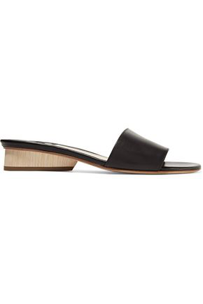 Paul Andrew Woman Lina Leather Sandals Black