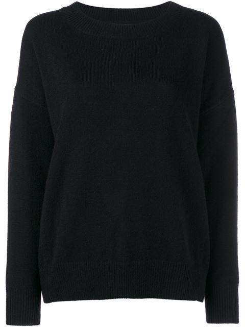 Frame Denim Cashmere Long Sleeve Jumper - Black