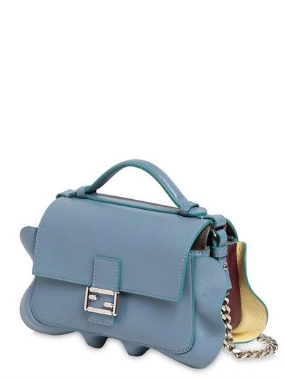 25e5b12d6b7b Fendi Micro Double Baguette Leather Bag